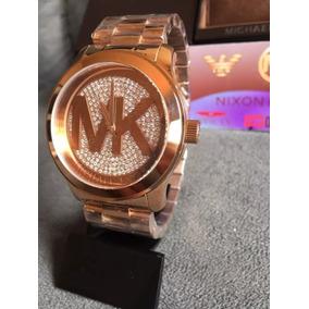 ec9f9fe312c56 Relógio Michael Kors Mk5896 Rose Cristais Original Garantia ...