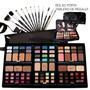 Combo Maquillaje Pinceles Tablero Premium Makeup Heburn