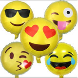 Globos Emoticones Metalizados Importados Con Helio