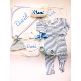 Ajuar Bebe Regalo 8 Piezas C/nombre Bordado Personalizado