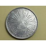 Moneda Peso Mexico Sobrefecha 1902/1 Troquel Chocado Plata