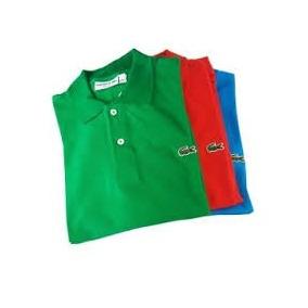 Kit Com 6 Camisas Gola Polo ,camiseta, Gola Polo Lacoste.