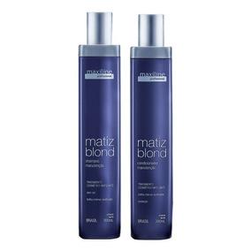 Kit Matiz Blond Manut.(shampoo + Cond.) 2x300ml - Maxiline