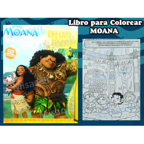 10 Libro Para Colorear Moana Recuerdos Fiesta :)