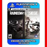 Rainbow Six Siege Ps4 Digital Tom Clancys Envios En Min