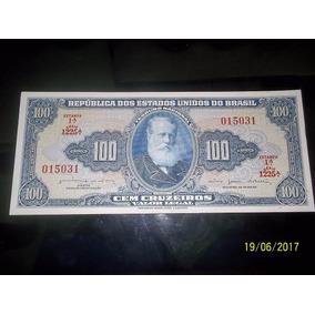 Cedula C035 Dinheiro Antigo Cem Cruzeiros