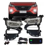 Kit Farol Milha Neblina Hyundai Creta 19 Pcd Bt Mod Original