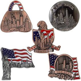 Recuerdo De Nueva York - 5 Del Metal Imán De Frigorifico -
