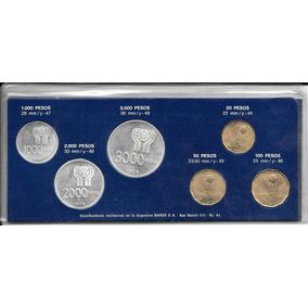 6 Monedas Argentinas Futbol Plata Mundial 78 Año 1978