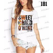 Camiseta T-shirts Feminina Fashion Guns N