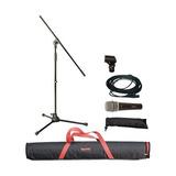 Msk10b Microfono Stand, Cable Xlr Y Funda