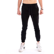 Pantalón Jogger De Gabardina Para Hombre Color Negro