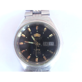 Relogio Orient Crystal Automatic Fundo Negro 21 Jewels