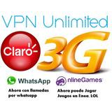 Internet Claro Ilimitado - 1mes - Vpn - 3g- Prepago -android