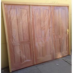Porton Madera Cedro Garage Corredizo Guia En Acero 2.40x2.00