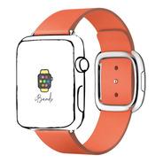 Pulseira Couro Moderno Por Do Sol Apple Watch 42mm 44mm