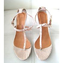 Zapato/sandalia, Fiesta, Color Beige Nude, Via Uno, Talla 38