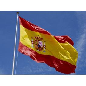 Bandeira Poliéster Espanha 150 X 90 Cm