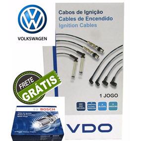 Kit Jogo Vela Cabo Voyage 1.0 Power Flex 2008 2009 2010 Vdo