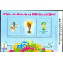Selos Brasil 2014 Bloco 179 Futebol Copa Do Mundo Do Brasil