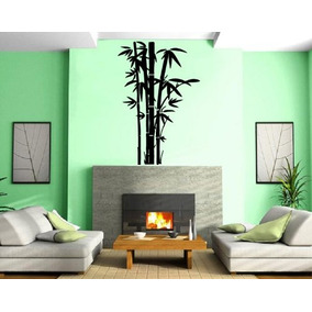 Lucky Bambú Oriental Floral Decorativo Diseño Imagen De Par