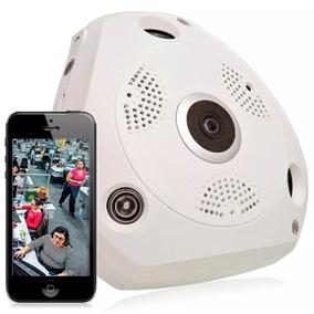 Câmera Panorâmica Segurança 3d Internet 360° Vr Cam 1.3mp