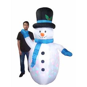 Boneco De Neve Inflavel Natal Led Colorido Grande 2m Decora