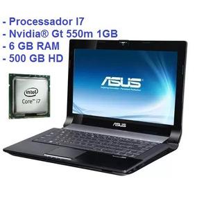 Notebook Gamer Asus I7 Nvidia® Gt 550m 1 Gb, 6gb Ram 500 Hd