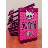 50 Sacolinha Surpresa Monster High Lembrancinha Aniversário