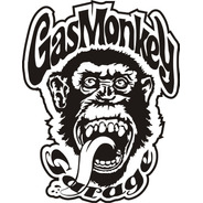 Calcomanía Gas Monkey 25 X 20 Cm Graficastuning