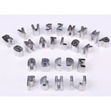 Cortantes Letras Galletitas Porcelana Fría Cortante Masas