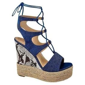 En Romanas Azul Mercado Sandalias Zapatos Mujer Marino De SjLUzVGqMp
