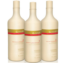 Kit Inoar Alemã G-hair Escova Progressiva 3x1000ml Ghair
