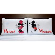 Fronhas Personalizada Mickey E Minnie