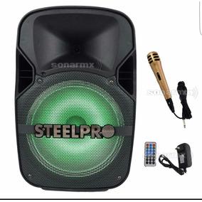 Bafle Amplificado Steelpro 12 Recargable Exact-bl12blt