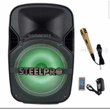 Bafle Amplificado Steelpro 12 Recargable Exact-bl12blt
