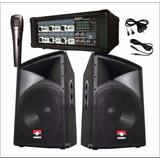 Equipo De Sonido Amplificador 6 Canales + 2 Bafles Trapecio