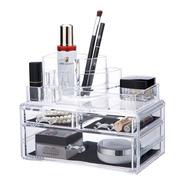 Organizador Acrílico Maquillaje Libreria 3 Pisos - 6109