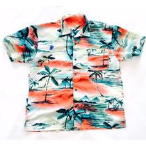 Camisa Hawaiana Tropical Floreada Caribe Surf Talle Xl