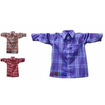 Camisa Xadrez Infantil Festa Junina Caipira Tamanho 1 Ao 16