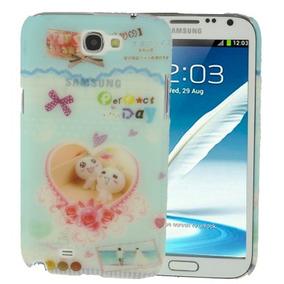 Para Galaxy Note 2 Estuche Funda Cuero Proteccion N7100