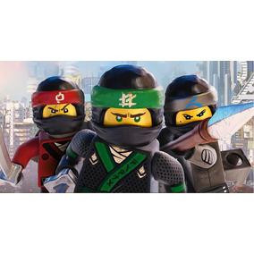 Painel Festa Infantil Ninja Go Tecido Banner 1 X 0,70
