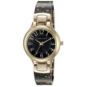 Reloj Dama Anne Klein Ak2380bkgb 32mm Mujer Original Nuevo