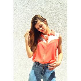 Camisas Blusa Gasa Mujer Manga Corta Verano