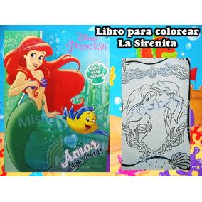 10 Libros Colorear La Sirenita Original Recuerdo Fiesta :)