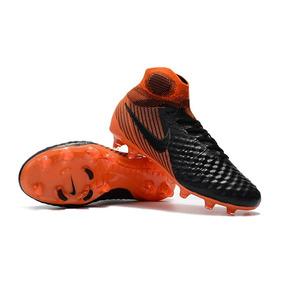 9b684d06ee Chuteira Nike Mercurial Laranja Cinza Claro - Chuteiras para Adultos ...