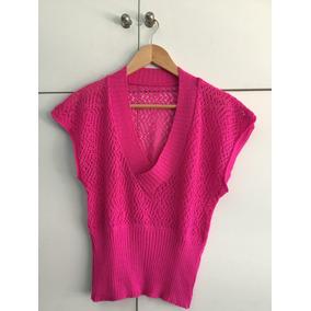 Sweater Chaleco Calado Escote V A La Cintura