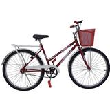 Bicicleta 26 Poty Vermelha Acessórios Branco