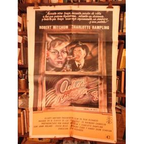 Adios Muñeca. Robert Mitchum. Afiche Cine Original.