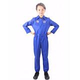 Macacão Luxo Heroi Da Força Aérea Fantasia Piloto De Avião